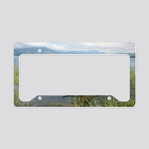 Buffalo in water License Plate Holder